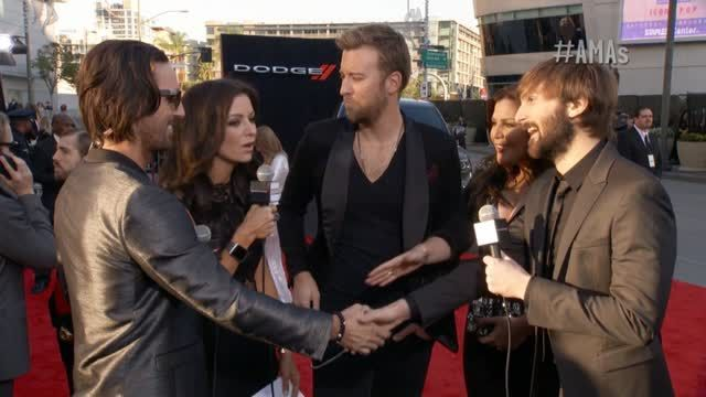News video: Lady Antebellum Red Carpet Interview - AMAs 2013