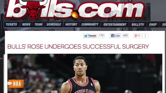 News video: Derrick Rose Likely Out For Season After Knee Surgery